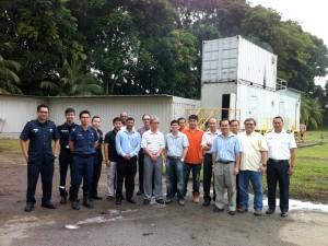 2012-12-17 - Visit to SAA - Flash Fire Simulator